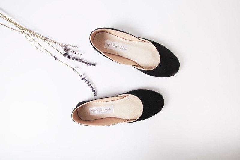 02 nubuck black handmade ballet flat