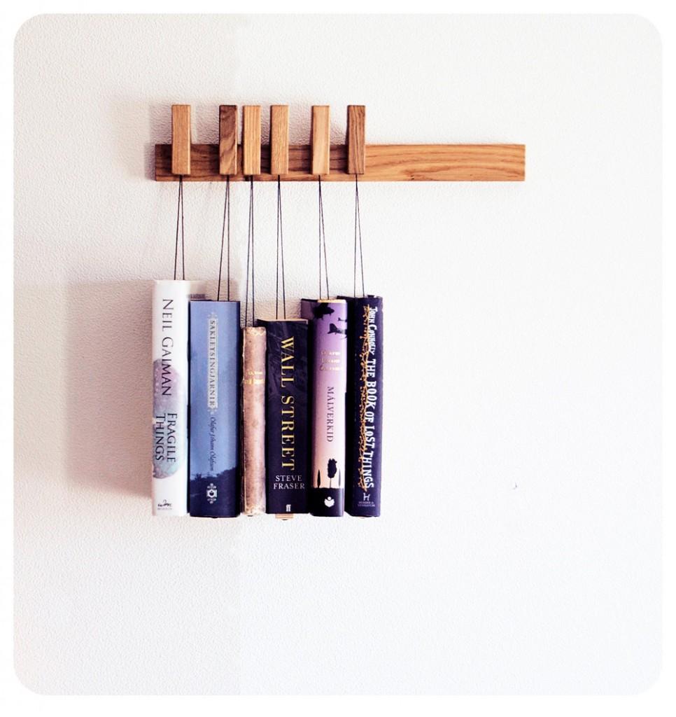 03 MINI handmade wooden book rack