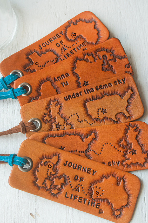 05 Journey leather luggage tag