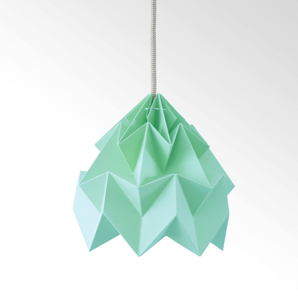 05 Moth origami lampshade ice mint