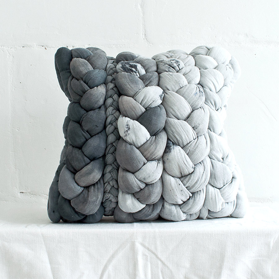 01 Grey plait pillowcase