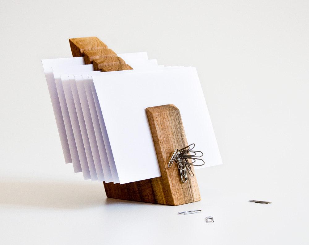 01 Letter Holder Wood Mail Organizer