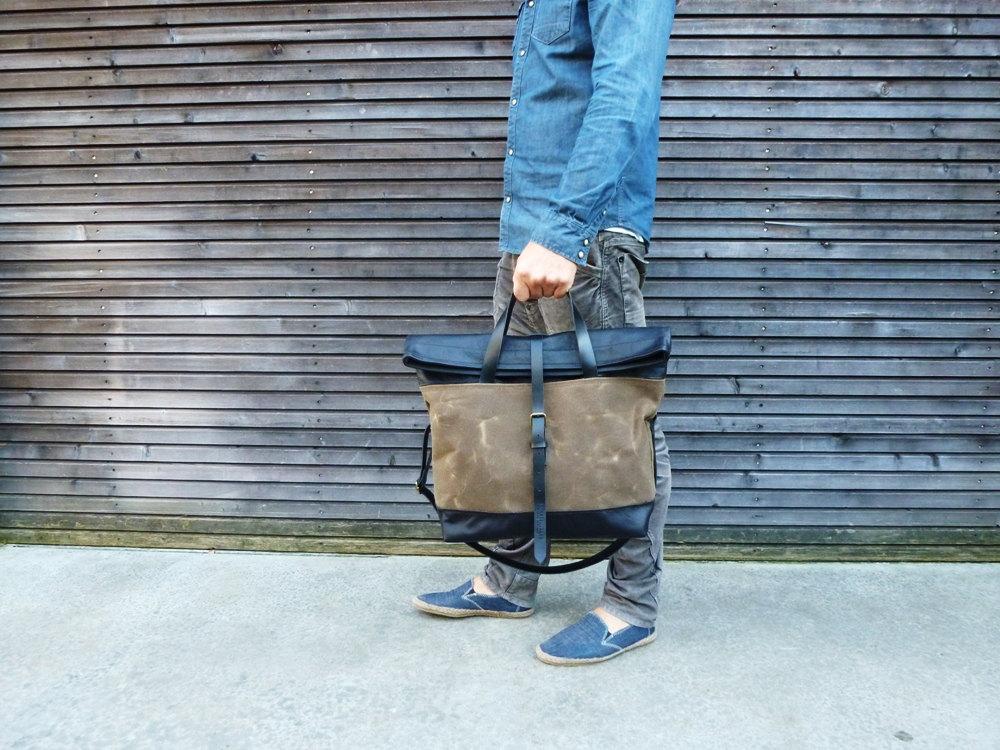 01 waxed canvas bag carry all