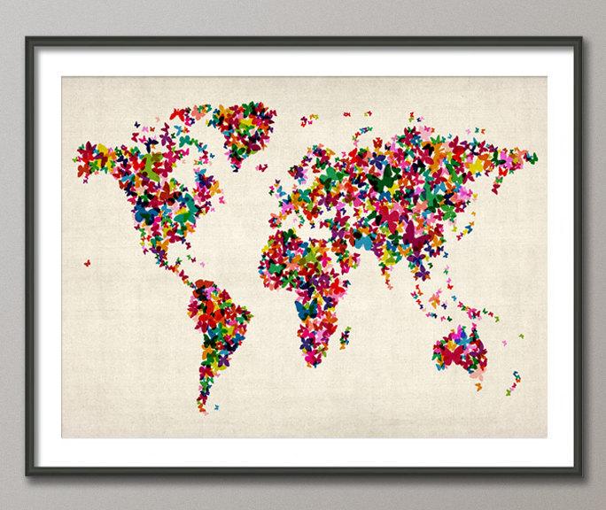 02 Butterflies Map of the World
