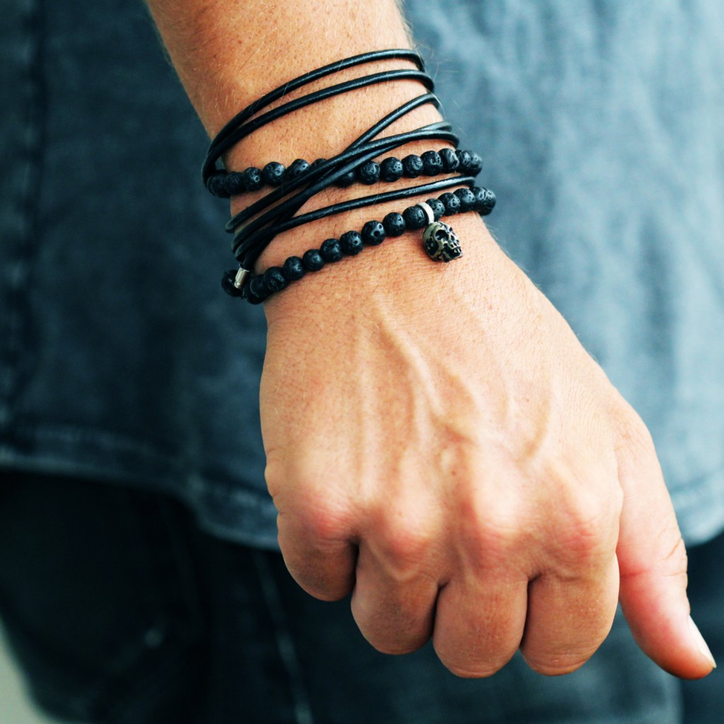 02 Mens Leather Bracelet