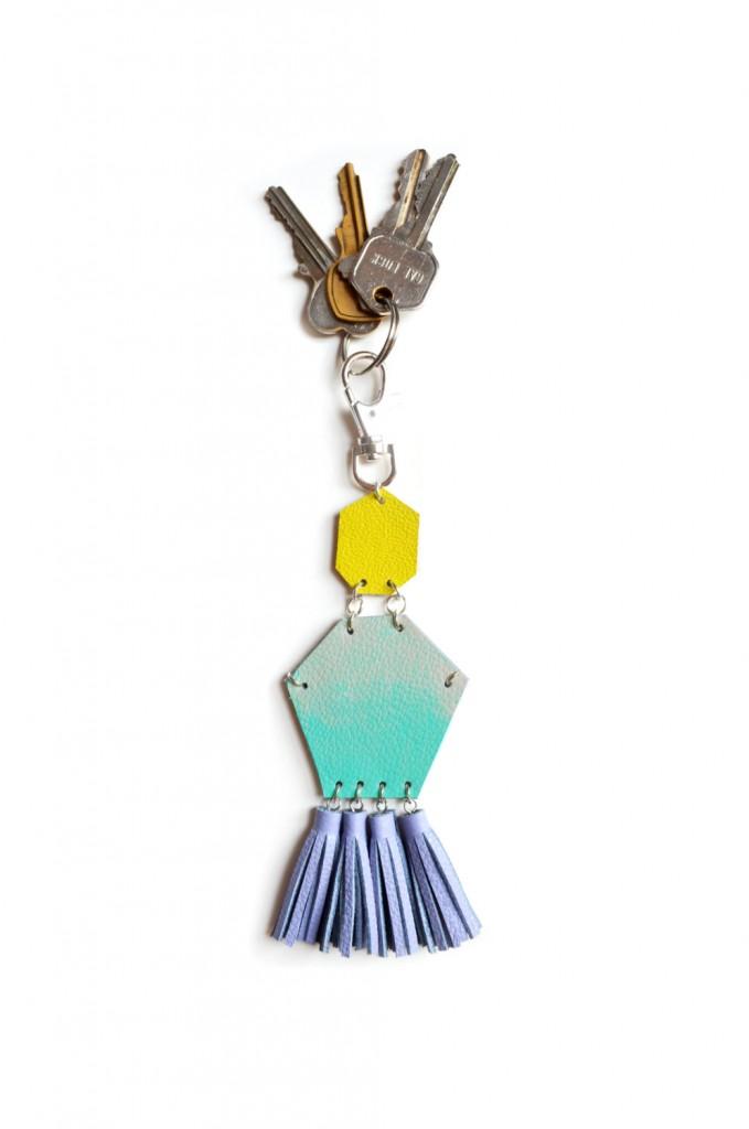 03 Mint Tassel Key Chain
