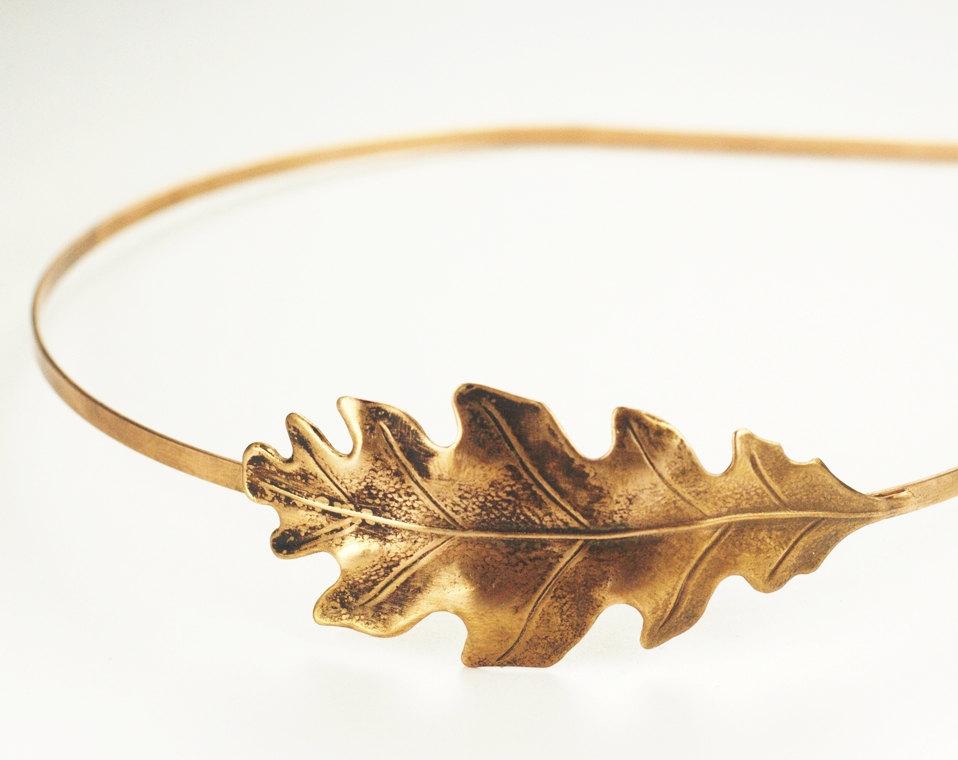 03 Oak leaf headband