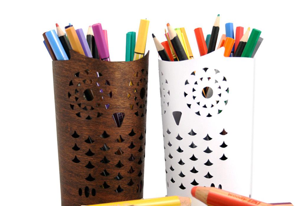 03 Owl Pencil holder
