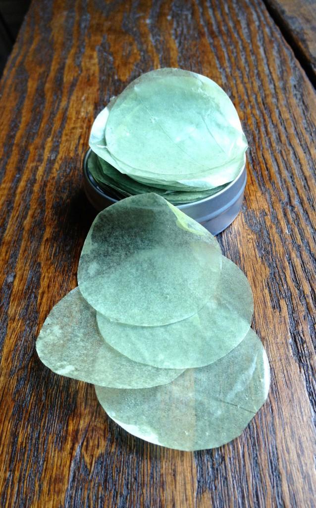 03 Spearmint Eucalyptus Travelers Soap Petals