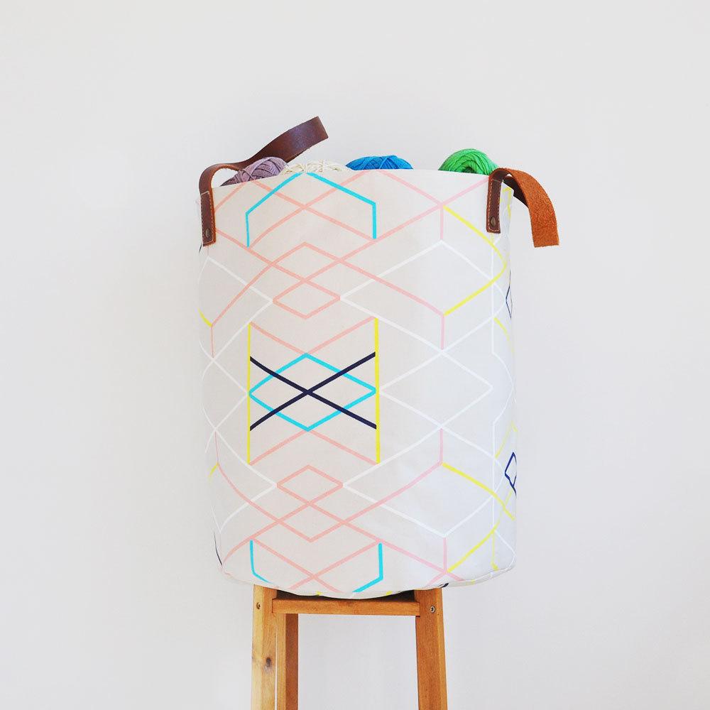 04 XXLarge Geometric Laundry Hamper