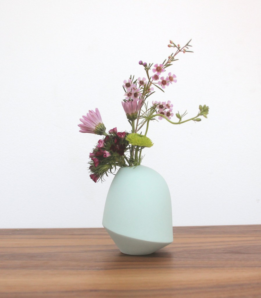 04 slip cast porcelain matte birdie vase