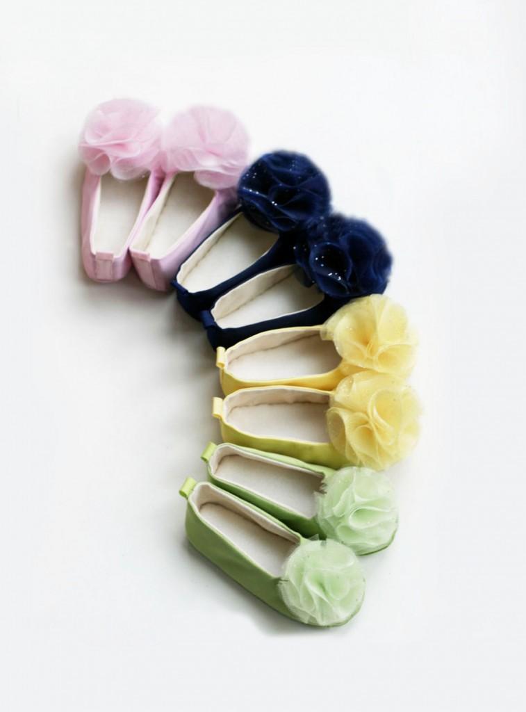 2 Satin Flower Ballet Flat