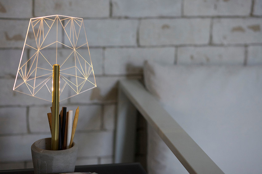 04 Concrete pen holder office lamp