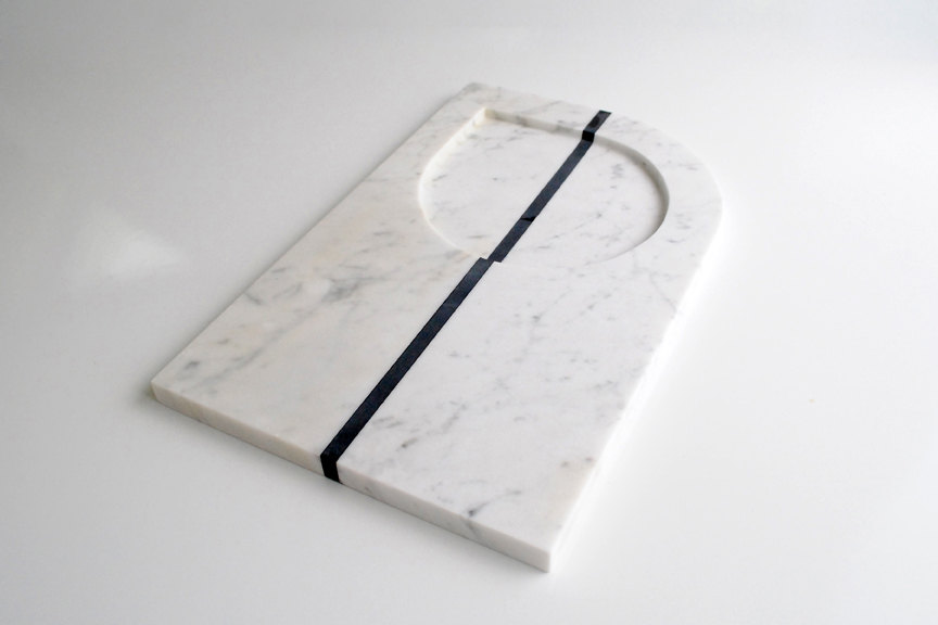 1 White Marble Serving Tray
