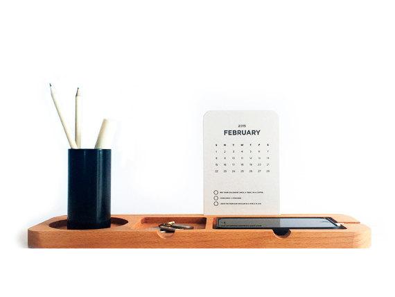 1 Wooden Desk Organiser