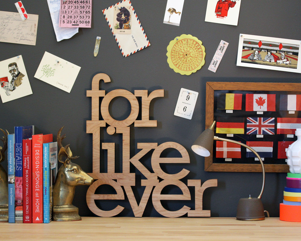 3 for like ever wood sign
