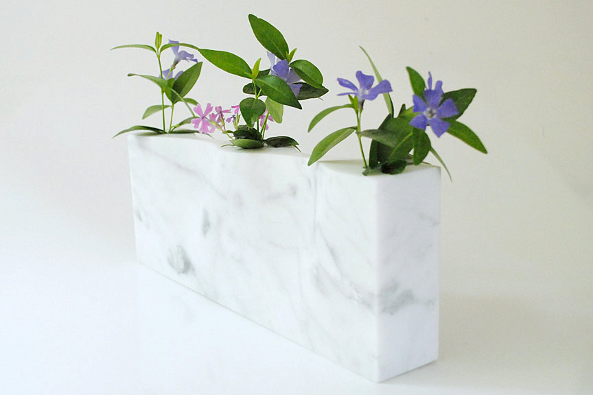 4 Simplicity in White Marble Vase