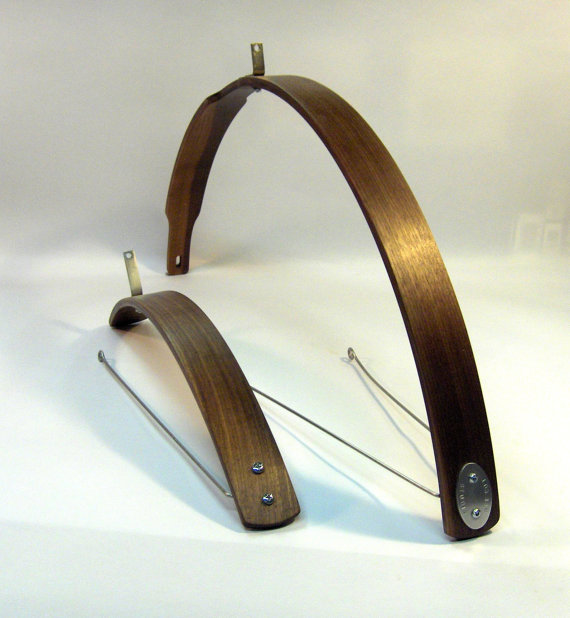 4 Walnut Wooden Bike Fenders