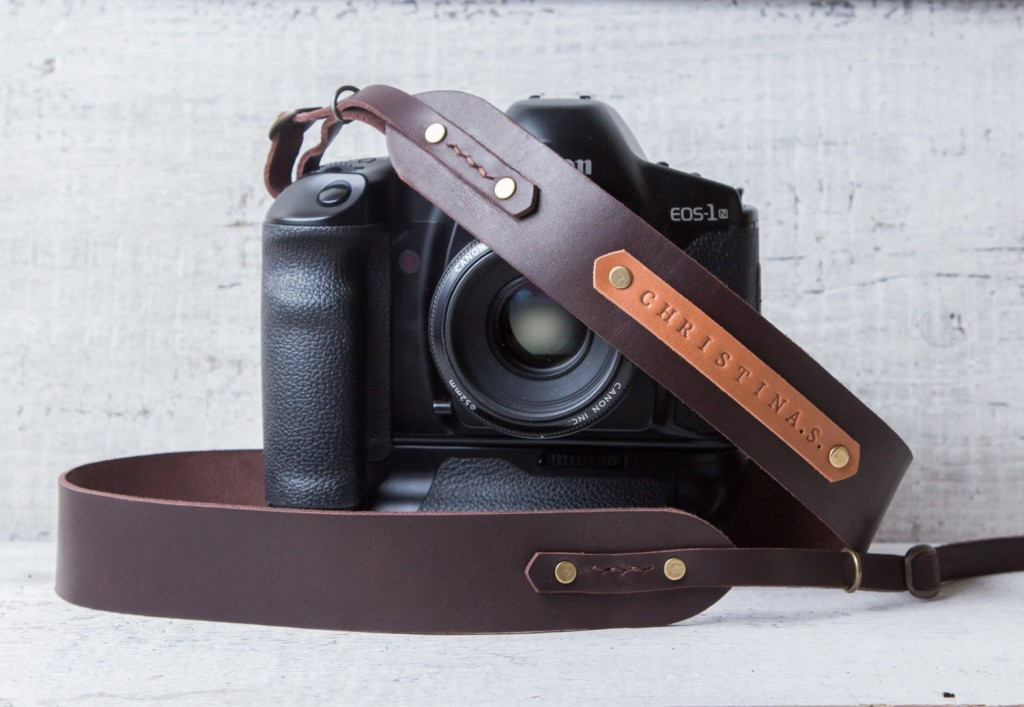 2 Personalized leather camera strap