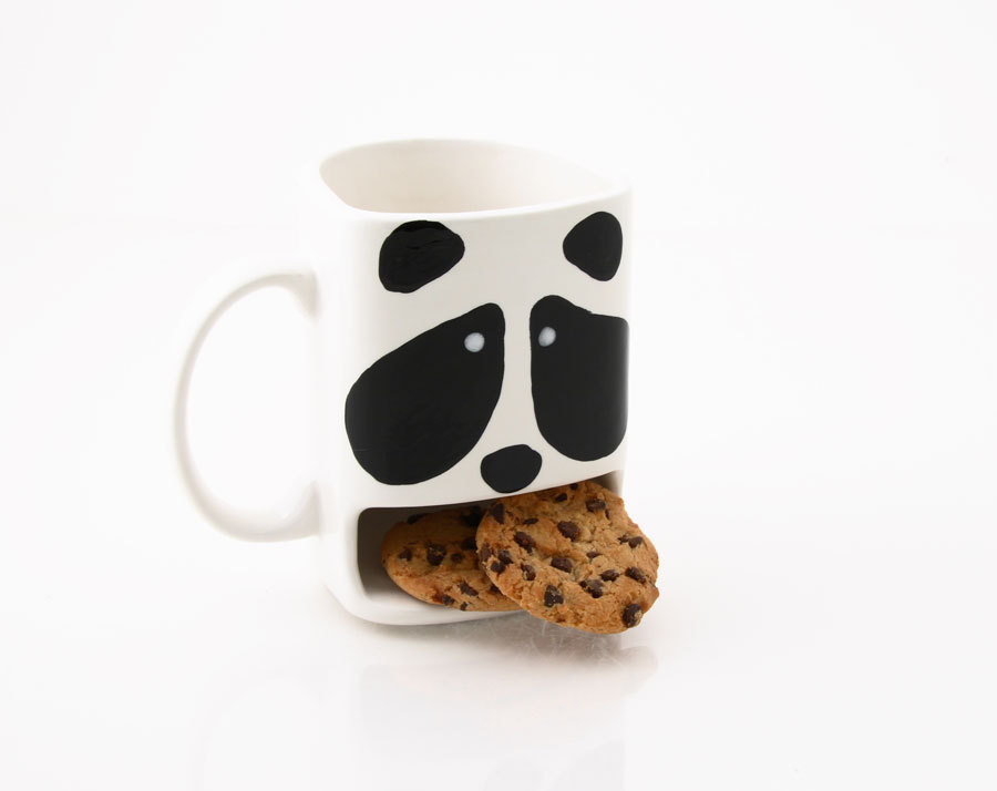 3 Panda Cookie dunk mug