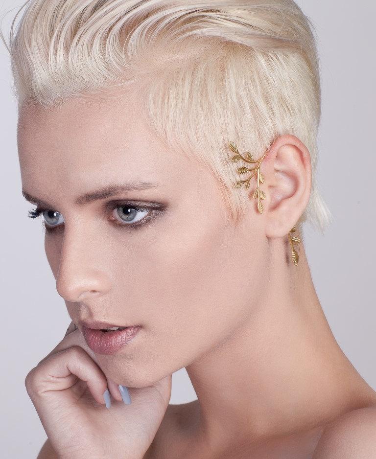 3 Statement Gold Tree Ear Cuff