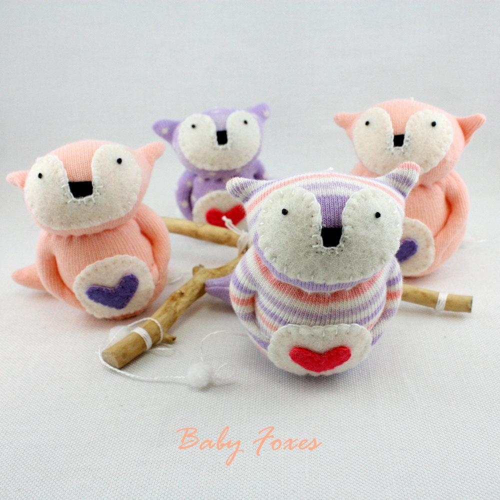 5 Baby Fox Sock Doll Mobile