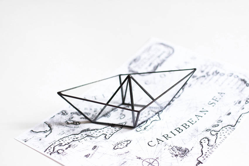 5 Glass paper boat