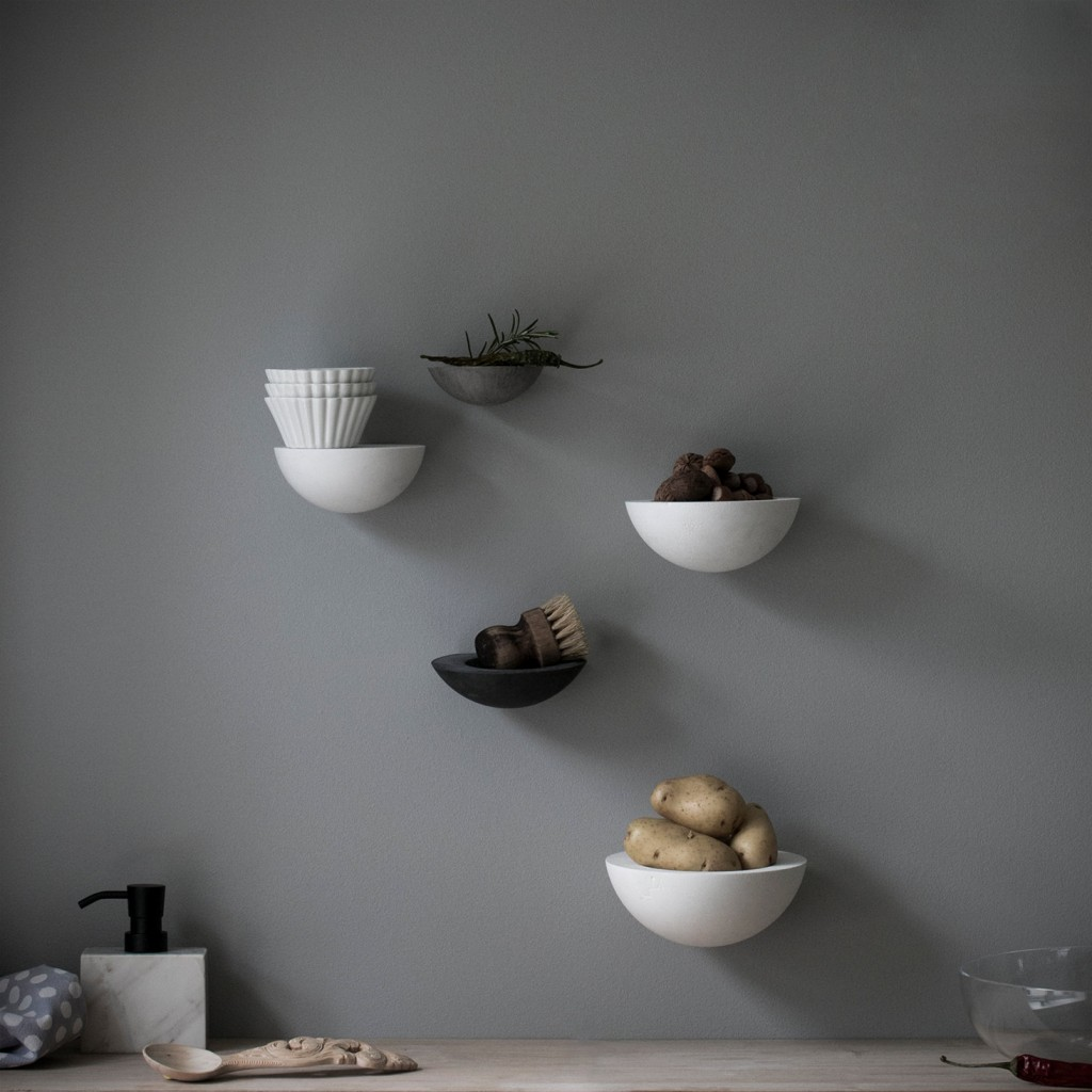 1 wall bowls and shelf set