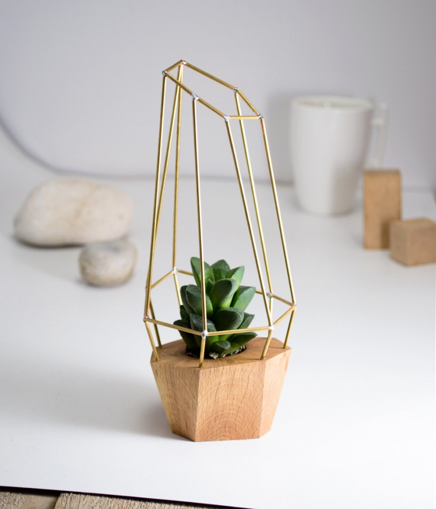 2 Modern Faceted Geometric Planter