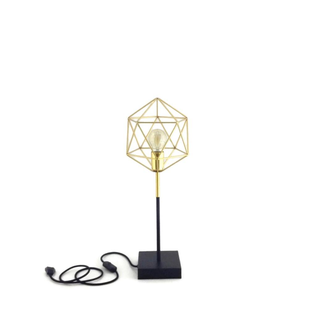 3 Iris Gold And Black Minimal Design Table