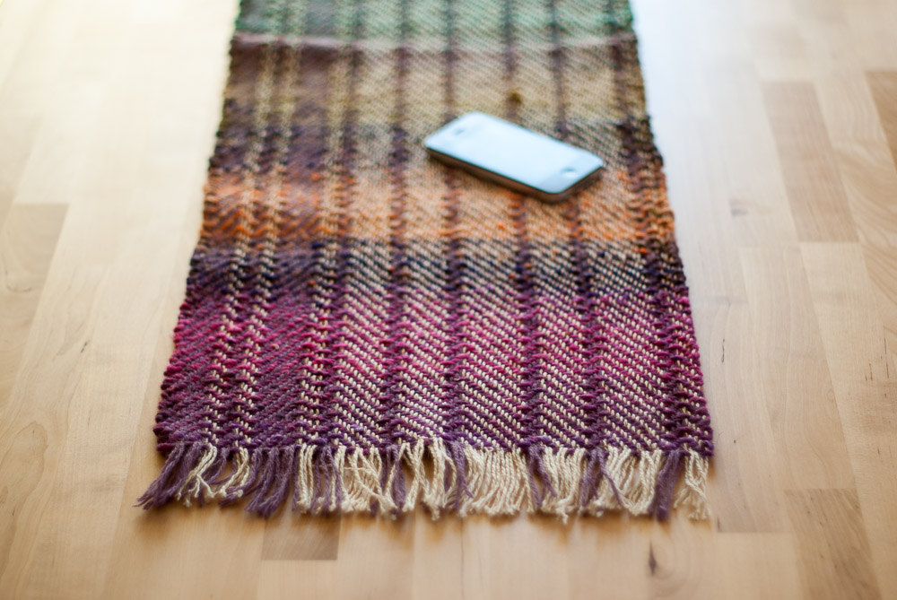3 wool table runner