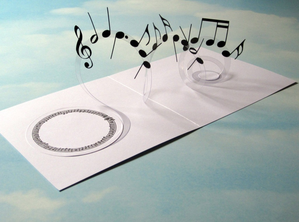 1 Music Card Spiral Pop Up