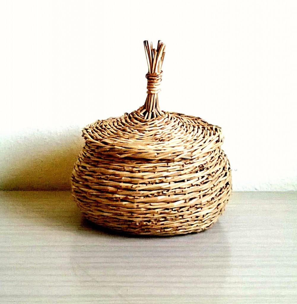1 Storage Basket Hand Woven