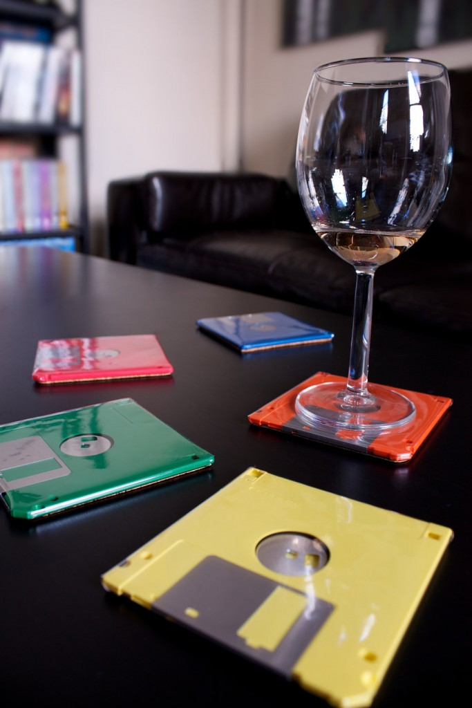 3 Floppy Disk Coasters
