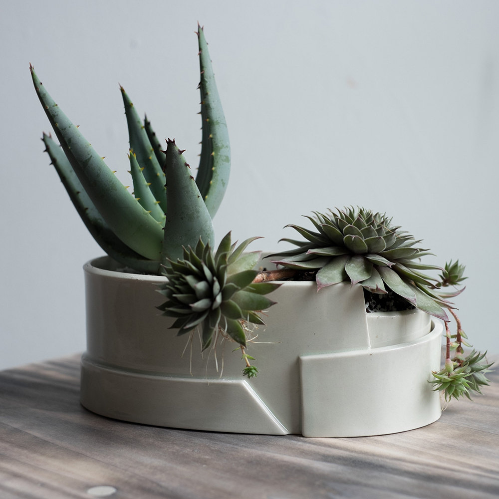 5 Small Oval Porcelain Planter
