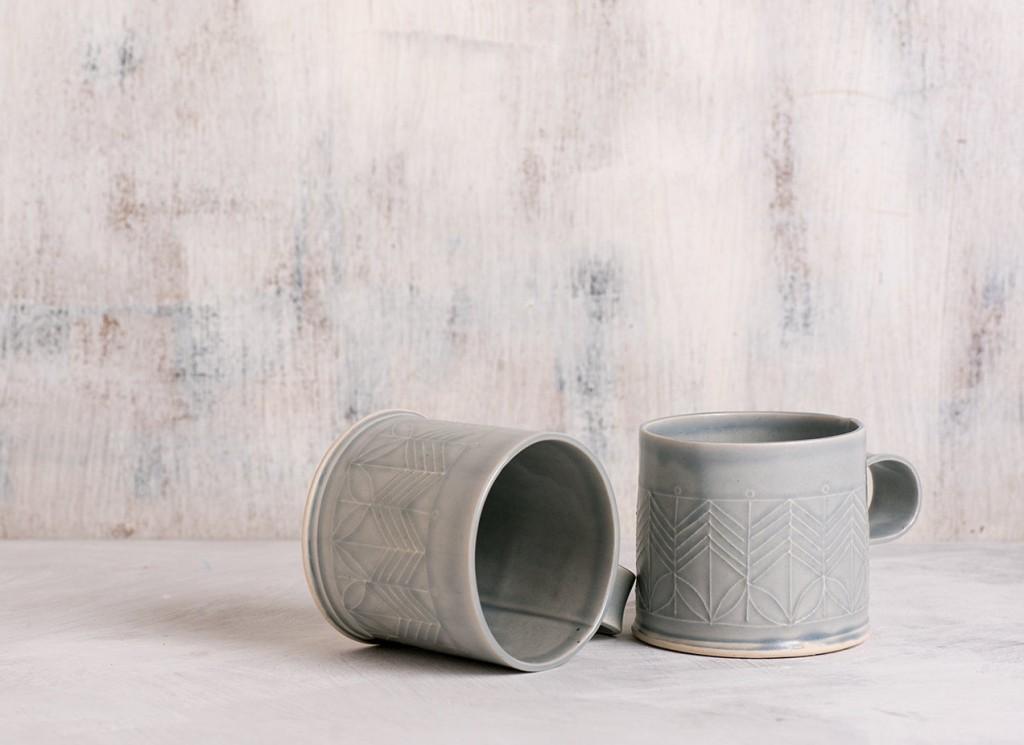 1 Light Blue Porcelain mug