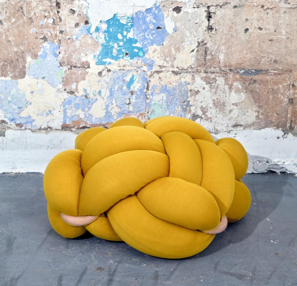 1 Medium mustard Floor Cushions