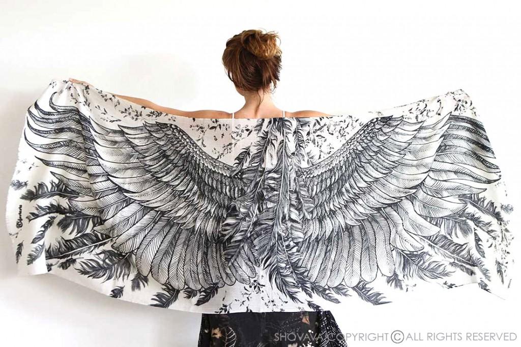 1 Wings scarf