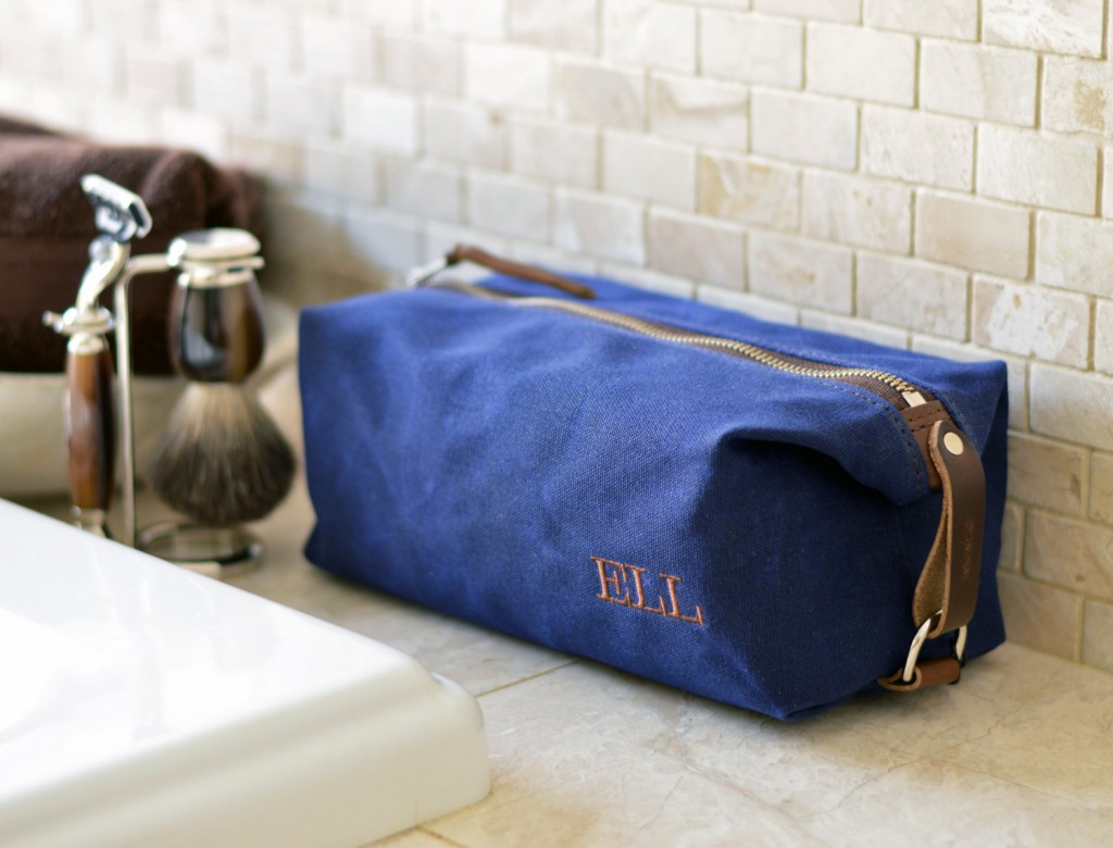 2 Personalized Mens Toiletry Shaving Bag