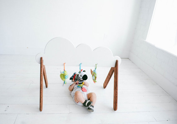 2 Wooden Baby Gym