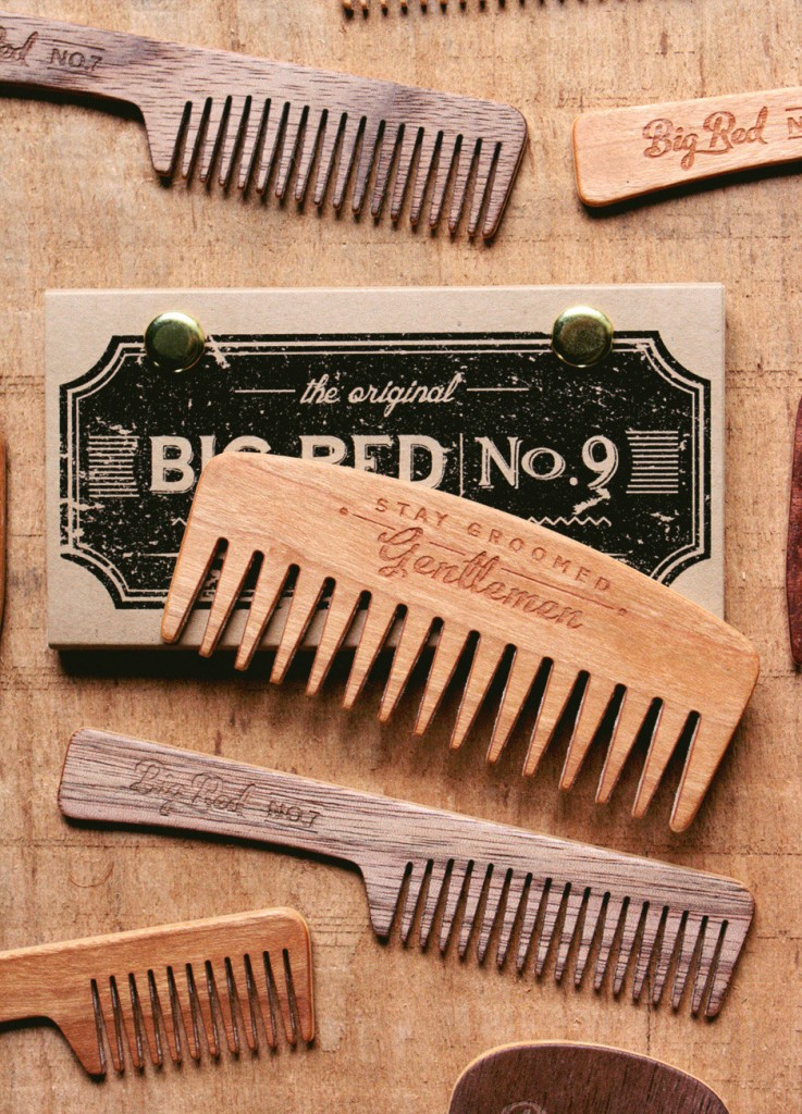3 Big Red Beard Comb
