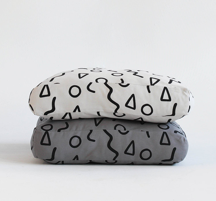 3 Shapes Pattern Floor Cushion