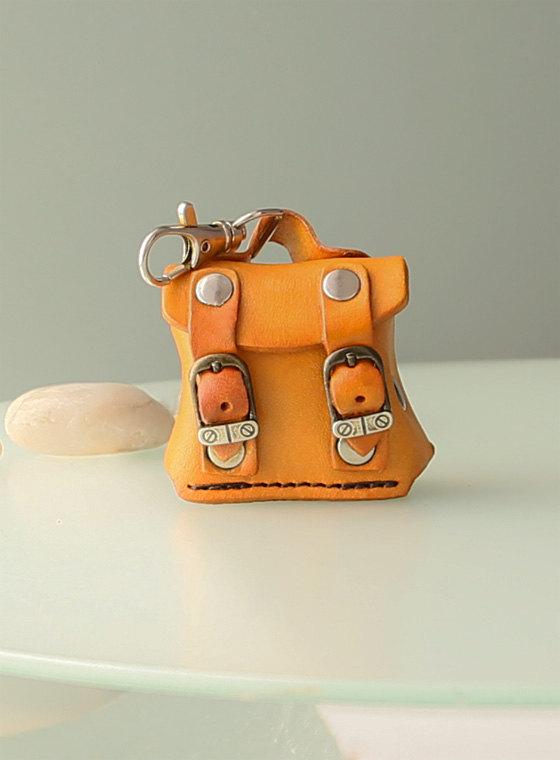 3 Womens personalized genuine leather keychain