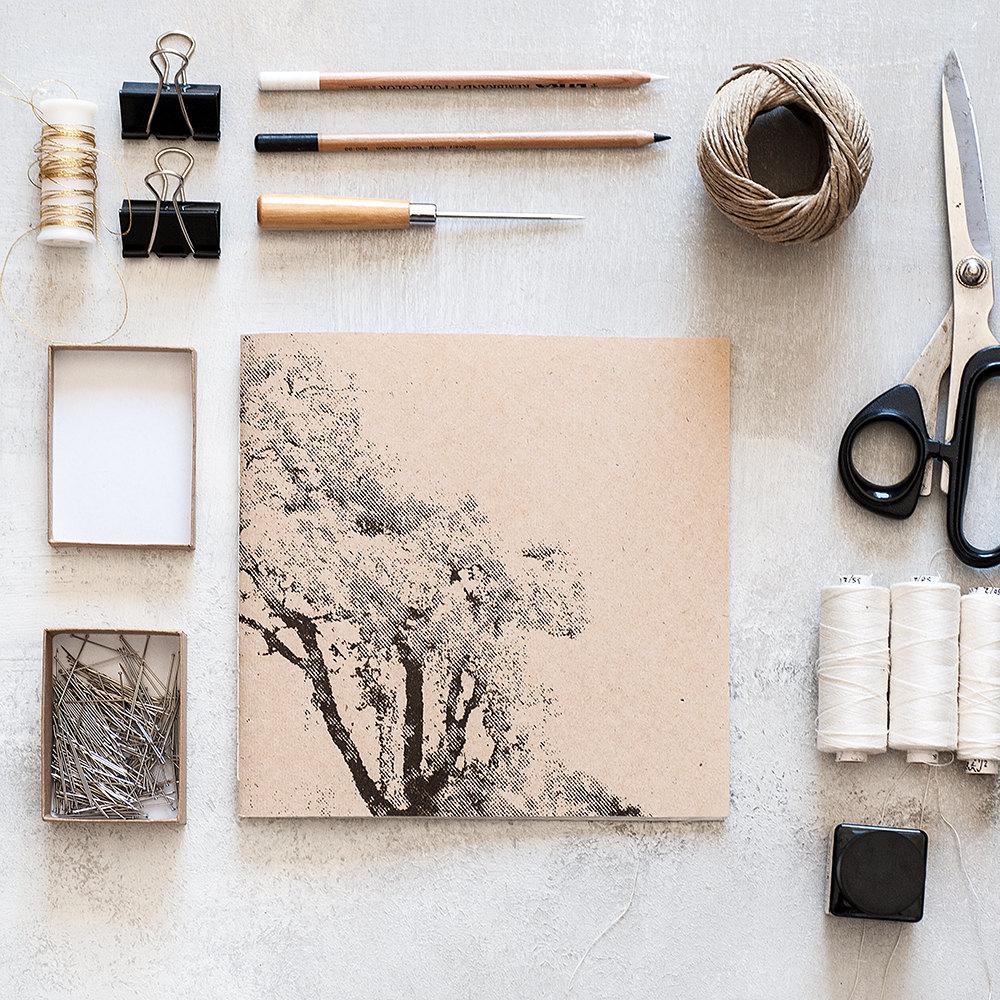 5 Tree handmade notebook