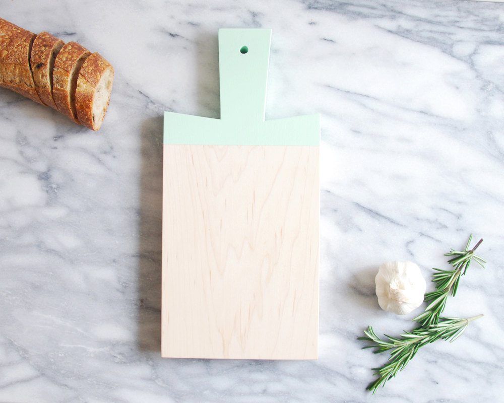 1 Mint Green Maple Paddle Cutting Board