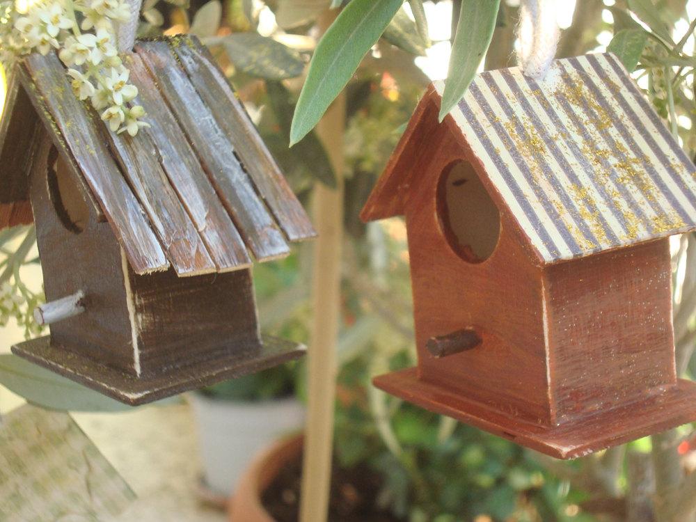 2 Wooden Bird House