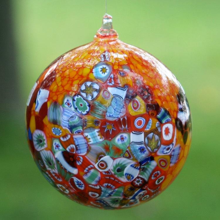 5 Murano glass Christmas ball