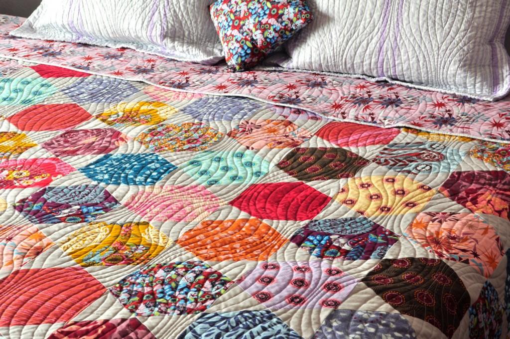 1 Modern Patchwork Hexagon Custom Quilt