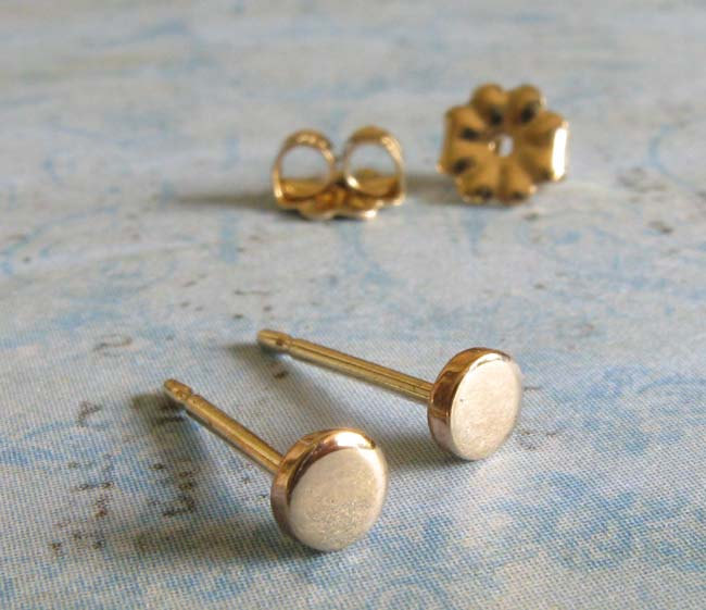 4 Tiny dot post earrings