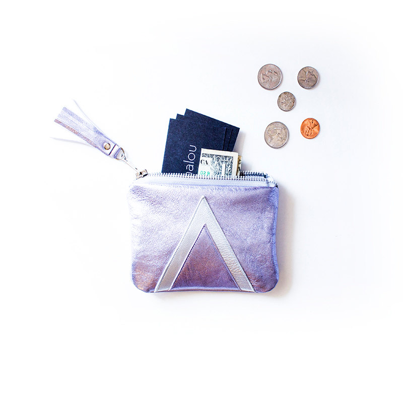 5 Holographic Leather Pouch